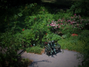 "This is a simulated ""tilt-shift"" photo, where blur is used to create a ""miniature"" effect."