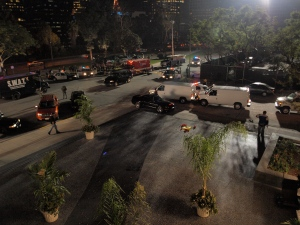 This photo of the whole set from an episode of KNIGHT RIDER (2008) just wouldn't have possible with my Minolta.